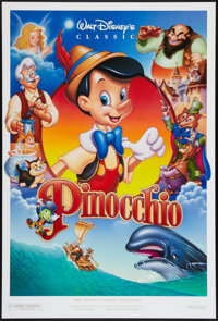 "Pinocchio (Buena Vista, R-1992). One Sheets (2) (27"" X 40"") DS Styles A and B. Animation. ... (Total: 2 Items)"