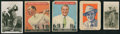 Golf Cards:General, 1920's-1950's Golf Card Collection (5) With Bobby Jones Rookie Card. ...