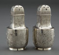 Silver Holloware, American:Other , A PAIR OF GORHAM SILVER PEPPER SHAKERS . Gorham Manufacturing Co.,Providence, Rhode Island, circa 1886. Marks: (lion-anchor...(Total: 2 Items)