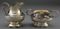 Silver Holloware, American:Creamers and Sugars, A SHIEBLER SILVER AND SILVER GILT CREAMER AND SUGAR . George W. Shiebler & Co., New York, New York, circa 1890. Marks: (wing... (Total: 2 Items)