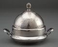 Silver Holloware, American:Other , A WOOD & HUGHES SILVER COVERED BUTTER DISH . Wood & Hughes,New York, New York, circa 1875 . Marks: W&H, STERLING63A. 5...