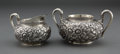Silver Holloware, American:Creamers and Sugars, A GORHAM SILVER CREAMER AND SUGAR . Gorham Manufacturing Co., Providence, Rhode Island, circa 1881. Marks: (lion-anchor-G) ... (Total: 2 Items)