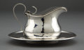 Silver Holloware, American:Other , A SHREVE SILVER SYRUP PITCHER AND LINER . Shreve & Co., SanFrancisco, California, circa 1915. Marks: (S-bell-S)STERLING,... (Total: 2 Items)