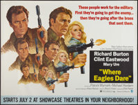 "Where Eagles Dare (MGM, 1968). Subway (45"" X 59.5"") Advance. War"