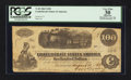 Confederate Notes:1862 Issues, T40 $100 1862 PF-5 Cr. 300. Issued at Houston, TX.. ...