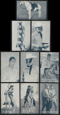 "The Lone Ranger Serial and Radio Show (MBS, 1938). Arcade Cards (9) (3.5"" X 5.5""). Serial. Radio. ... (Total:..."
