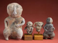 American Indian Art:Pottery, Lot of Four Cartagena Figures... (Total: 2 Items)