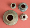 Antiques:Antiquities, Group of Four Maya Jadeite Objects... (Total: 4 Items)