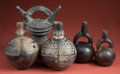 Antiques:Antiquities, Group of Five Chimu and Sican Blackware Vessels... (Total: 5 Items)