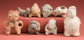 Antiques:Antiquities, Group of Eight Clay Objects... (Total: 8 Items)