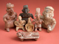 Antiques:Antiquities, Group of Seven Smaller Nayarit and Jalisco Figures... (Total: 7Items)