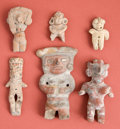 Antiques:Antiquities, Group of Six Small Figurines... (Total: 6 Items)