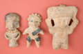 Antiques:Antiquities, Group of Three Clay Figurines... (Total: 3 Items)