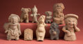 Antiques:Antiquities, Group of Nine Mesoamerican Clay Objects... (Total: 9 Items)