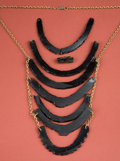 American Indian Art:Jewelry and Silverwork, Mixtec or Aztec Obsidian Necklace...