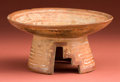 American Indian Art:Pottery, Toltec Pedestal Offering Dish...
