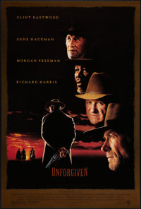 """Unforgiven (Warner Brothers, 1992). One Sheet (27"""" X 41"""") DS. Western"""