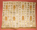 American Indian Art:Pottery, Group of 116 Mochica Gold Disc Ornaments...
