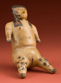 "Rare and Important Nazca Ceramic Female ""Doll"""