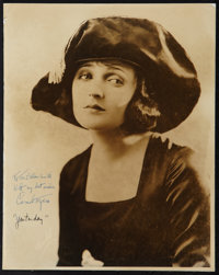 "Carmel Myers by Jack Freulich (Universal, 1920s). Autographed Photo (11"" X 14""). Miscellaneous"