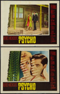 """Movie Posters:Hitchcock, Psycho (Paramount, 1960). Lobby Cards (2) (11"""" X 14""""). Hitchcock.. ... (Total: 2 Items)"""