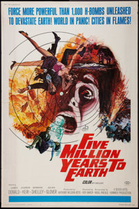 """Five Million Years to Earth (20th Century Fox, 1967). Poster (40"""" X 60""""). Science Fiction"""