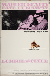 """Bonnie and Clyde (Warner Brothers-Seven Arts, 1967). Poster (40"""" X 60""""). Crime"""