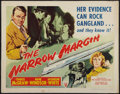 "Movie Posters:Film Noir, The Narrow Margin (RKO, 1952). Half Sheet (22"" X 28"") Style B. Film Noir.. ..."