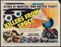 "Movie Posters:Science Fiction, Killers from Space (RKO, 1954). Half Sheet (22"" X 28"") Style B.Science Fiction.. ..."