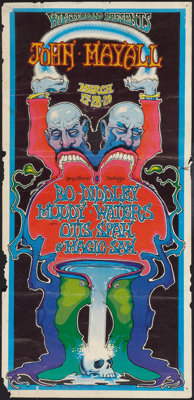 """Winterland Concert Poster (Winterland, March,1969). Poster (13.75"""" X 28.5""""). Rock and Roll"""