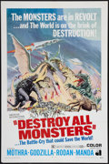 "Movie Posters:Science Fiction, Destroy All Monsters (American International, 1969). One Sheet (27""X 41""). Science Fiction.. ..."