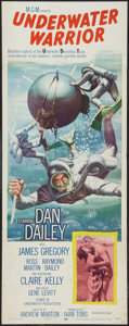 "Movie Posters:Adventure, Underwater Warrior (MGM, 1958). Insert (14"" X 36""). Adventure.. ..."