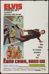 "Easy Come, Easy Go (Paramount, 1967). One Sheet (27"" X 41""). Elvis Presley"
