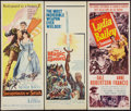 "Movie Posters:Adventure, Swordsman of Siena and Others Lot (MGM, 1962). Inserts (3) (14"" X36""). Adventure.. ... (Total: 3 Items)"