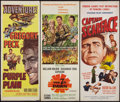 "Movie Posters:War, The Purple Plain and Others Lot United Artists, 1955). Inserts (3) (14"" X 36""). War.. ... (Total: 3 Items)"