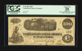 Confederate Notes:1862 Issues, T40 $100 1862 PF-1 Cr. 298. Issued at Little Rock, AR.. ...