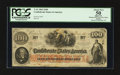Confederate Notes:1862 Issues, T41 $100 1862 PF-6 Cr. 319. Issued at Galveston, TX.. ...
