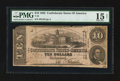 Confederate Notes:1862 Issues, T52 $10 1862 PF-9 Cr. 373. Trans-Mississippi Stamp.. ...