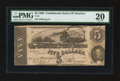 Confederate Notes:1862 Issues, T53 $5 1862 PF-3 Cr. 383. Trans-Mississippi Stamp.. ...