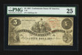 Confederate Notes:1861 Issues, T36 $5 1861 PF-4 Cr. 278. Trans-Mississippi Stamp.. ...
