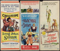 "Movie Posters:Adventure, Long John Silver and Others Lot (20th Century Fox, 1953). Inserts(3) (14"" X 36""). Adventure.. ... (Total: 3 Items)"