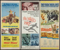 "Movie Posters:Adventure, The Naked Prey and Others Lot (Paramount, 1965). Inserts (3) (14"" X36""). Adventure.. ... (Total: 3 Items)"