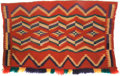 American Indian Art:Weavings, A NAVAJO GERMANTOWN SADDLE BLANKET. c. 1890...