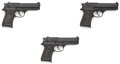Handguns:Semiautomatic Pistol, Beretta Lot of 3-Model 92SB Compact-M 9mm Semi-Auto Pistols MIB....
