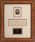 Autographs:Celebrities, David Crockett Promissory Note Signed...