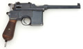 Handguns:Semiautomatic Pistol, *Mauser Model 1896 Broomhandle Semi-Automatic Pistol....
