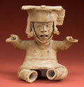 Pre-Columbian:Ceramics, Seated Veracruz Boy...