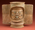 American Indian Art:Pottery, Maya Incense Burner Deity...