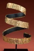 Antiques:Antiquities, Spectacular Tihuanaco Gold Upper Arm Band...