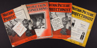 Motion Picture Projectionist Magazine and Other Lot (Various, 1930-1932). Film Trade Magazines (4) (Multiple Pages, 9&qu...